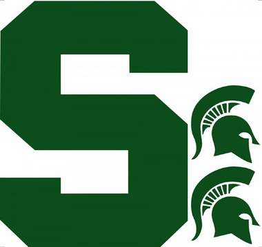 Michigan State Wallmarx Large Wall Decal