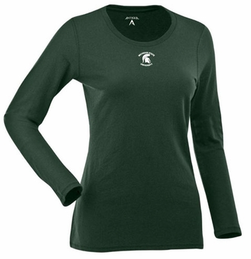 Michigan State Womens Relax Long Sleeve Tee (Team Color: Green)