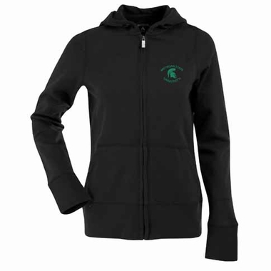 Michigan State Womens Zip Front Hoody Sweatshirt (Alternate Color: Gold)