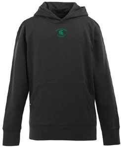 Michigan State YOUTH Boys Signature Hooded Sweatshirt (Team Color: Black) - Small