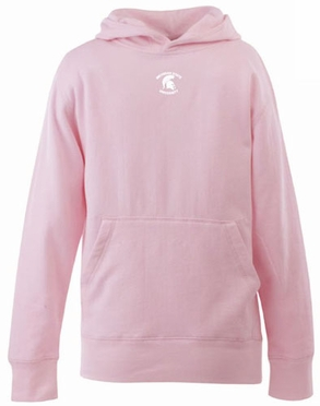 Michigan State YOUTH Girls Signature Hooded Sweatshirt (Color: Pink)
