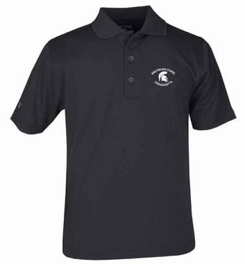 Michigan State YOUTH Unisex Pique Polo Shirt (Team Color: Black)