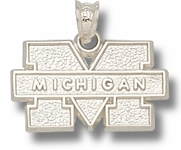 Michigan Sterling Silver Pendant