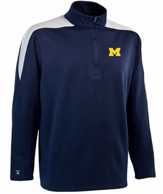 Michigan Mens Succeed 1/4 Zip Performance Pullover (Team Color: Navy)