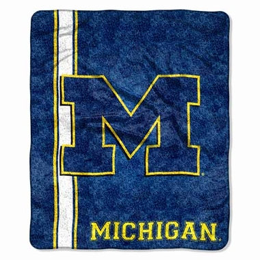 Michigan Super-Soft Sherpa Blanket