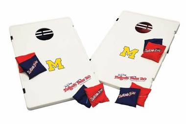 Michigan Tailgate Toss 2.0 Cornhole Beanbag Game