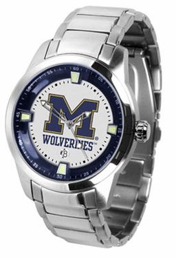 Michigan Titan Men's Steel Watch
