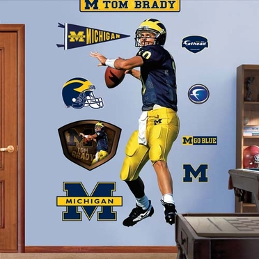 Michigan Tom Brady Fathead Wall Graphic