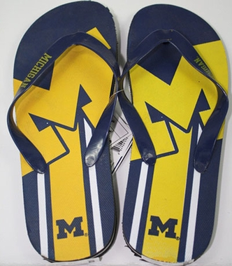 Michigan Unisex Big Logo Flip Flops