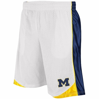 Michigan Vector Performance Shorts (White)