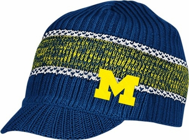 Michigan Visor Knit Hat
