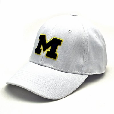 Michigan White Premium FlexFit Baseball Hat