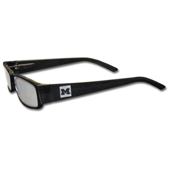 michigan wolverines black reading glasses 2 00 f