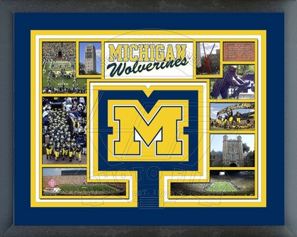Michigan Wolverines Framed Milestones & Memories