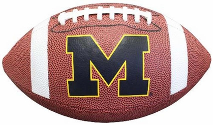 Michigan Wolverines NCAA Baden Official Size Composite Football