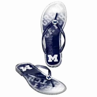 Michigan Wolverines Womens 2013 Slogan Jelly Flip Flop Slippers