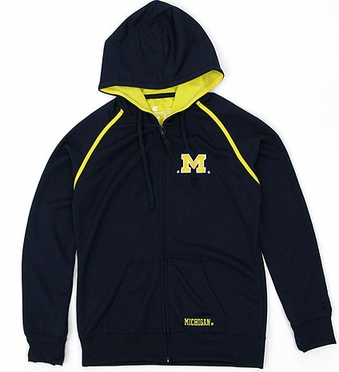 Michigan Women's Full Zip Performance Hooded Sweatshirt