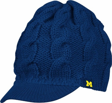 Michigan Women's Visor Knit Hat