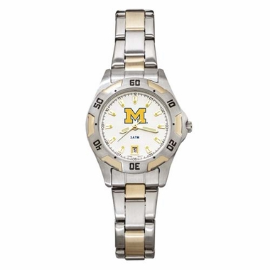 Michigan Womens All Pro Two Tone Watch