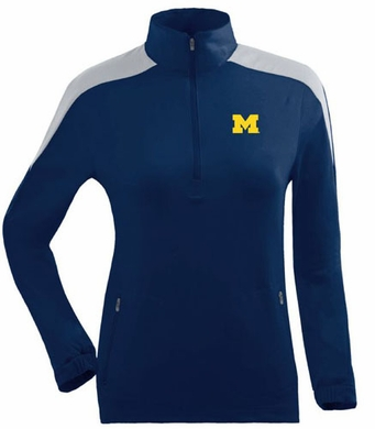 Michigan Womens Succeed 1/4 Zip Performance Pullover (Team Color: Navy)