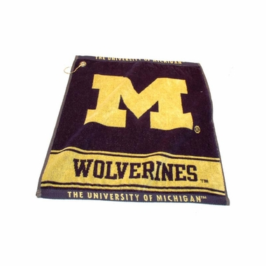 Michigan Woven Golf Towel