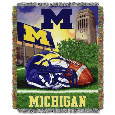 Michigan Woven Tapestry Blanket
