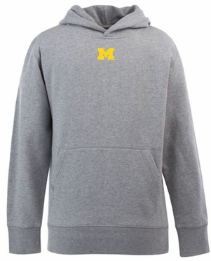 Michigan YOUTH Boys Signature Hooded Sweatshirt (Color: Gray)