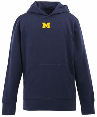 Michigan YOUTH Boys Signature Hooded Sweatshirt (Team Color: Navy)
