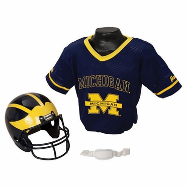 Michigan Youth Helmet and Jersey Set