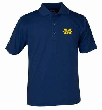 Michigan YOUTH Unisex Pique Polo Shirt (Team Color: Navy)