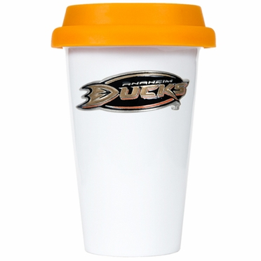 Anaheim Ducks Ceramic Travel Cup (Team Color Lid)