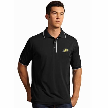 Anaheim Ducks Mens Elite Polo Shirt (Team Color: Black)