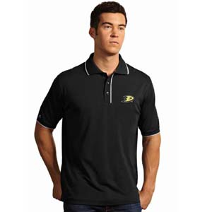 Anaheim Ducks Mens Elite Polo Shirt (Team Color: Black) - Large