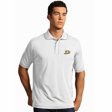 Anaheim Ducks Mens Elite Polo Shirt (Color: White)