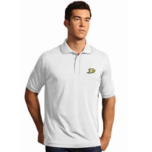 Anaheim Ducks Mens Elite Polo Shirt (Color: White) - Small
