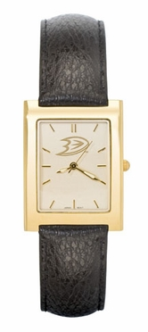 Anaheim Ducks Men's Gold Rectangular Watch