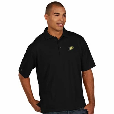 Anaheim Ducks Mens Pique Xtra Lite Polo Shirt (Team Color: Black)