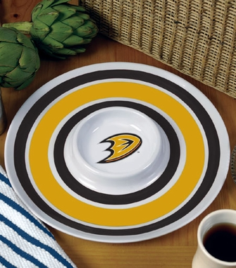 Anaheim Ducks Plastic Chip and Dip Plate