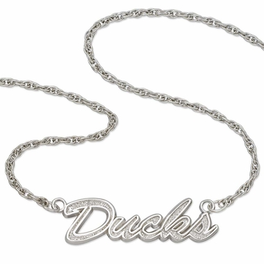 Anaheim Mighty Ducks Script Necklace