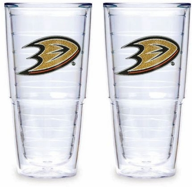 "Anaheim Ducks Set of TWO 24 oz. ""Big T"" Tervis Tumblers"