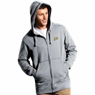 Anaheim Ducks Mens Signature Full Zip Hooded Sweatshirt (Color: Gray)