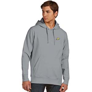 Anaheim Ducks Mens Signature Hooded Sweatshirt (Color: Gray) - Small