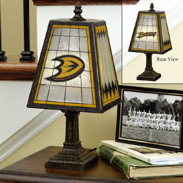 Anaheim Ducks Small Art Glass Lamp