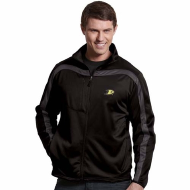 Anaheim Ducks Mens Viper Full Zip Performance Jacket (Team Color: Black)