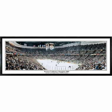 Anaheim Ducks Western Conference Champions 2003 Framed Panoramic Print
