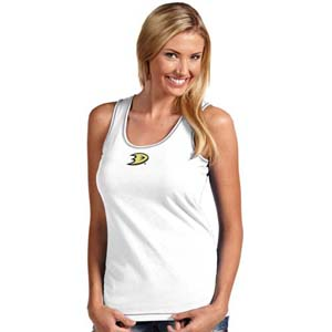 Anaheim Ducks Womens Sport Tank Top (Color: White) - Small