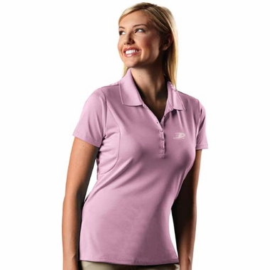 Anaheim Ducks Womens Pique Xtra Lite Polo Shirt (Color: Pink)