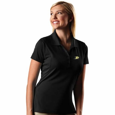 Anaheim Ducks Womens Pique Xtra Lite Polo Shirt (Team Color: Black)