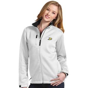 Anaheim Ducks Womens Traverse Jacket (Color: White) - Large