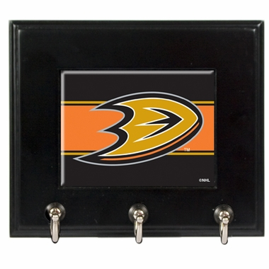 Anaheim Ducks Wooden Keyhook Rack